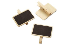 WOODEN BOARD WITH CLIP SET/4